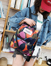 Fashion Camouflage Nylon Printed Letter Label Backpack