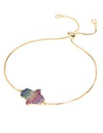 Fashion Color Adjustable Bracelet With Diamond Palm