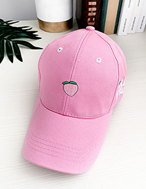 Fashion Peach Pink Canvas Adult Peaked Cap