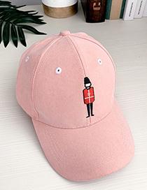Fashion Orange Pink Canvas Adult Peaked Cap
