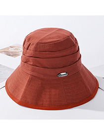 Fashion Orange Red Metal Foldable Fisherman Hat
