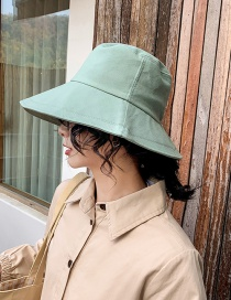Fashion Aqua Green Light Board Cotton Fisherman Hat