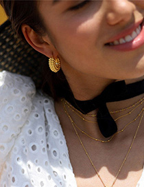 Fashion Golden Gold-plated Chunky Hoop Earrings