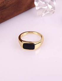 Fashion Black Alloy Drip Ring