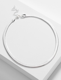 Fashion Silver Copper Flat Snake Chain Alloy Necklace