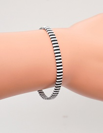 Fashion Black And White Black And White Woven Bracelet