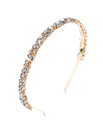 Fashion White Alloy Diamond Drop Headband