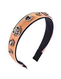 Fashion Light Powder Velvet Diamond Alloy Pearl Flower Headband