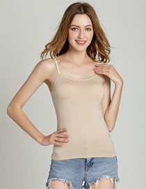 Fashion Color Modal Rimless Strapless Shirt With Chest Pads