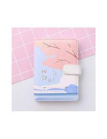 Fashion Japanese Cherry Blossom Snap Cherry Blossom Portable Notebook