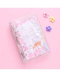 Fashion Meet The Cherry Blossoms Sakura Loose-leaf Quicksand Fantasy Checkered Notepad Set
