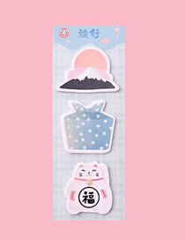Fashion Travel Lucky Cat Gift Sticky Long Section Multiple Notes Paper