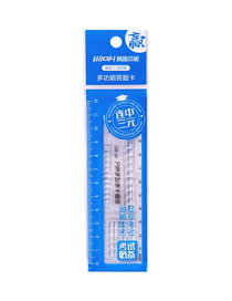 Fashion Transparent Answer Card Multifunctional Transparent Student Scale Ruler
