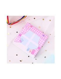 Fashion Pink Curtain Pink Curtain Carry Pocket Note Paper