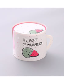 Fashion Red Watermelon Alphabet Cup Shape Notepad