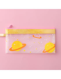 Fashion Yellow Starry Sky Small Starry Sky Transparent Pencil Case