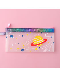 Fashion Purple Starry Sky Small Starry Sky Transparent Pencil Case