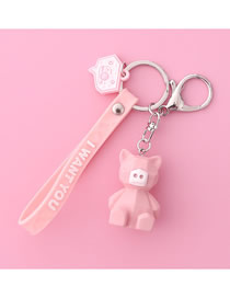 Fashion Little Pig Piggy Pig Geometric Key Ring Ring Pendant