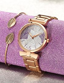 Fashion Pink Owl Pattern Diamond Belt Children Watch