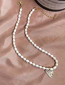 Fashion Golden Shaped Pearl Love Necklace