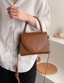 Fashion Brown Embroidered Flap Single Shoulder Messenger Bag