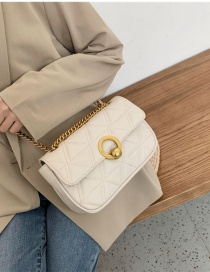 Fashion Large White Chain Shoulder Bag