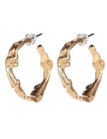 Fashion Golden Alloy Matte Gold-plated C-type Earrings
