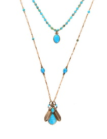Fashion Insect Gold Multilayer Diamond Insect Necklace