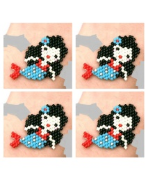 Fashion Black Rice Beads Woven Toucan Pattern Accessories