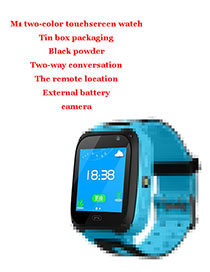 Fashion M2 Two-color Touch Screen + Iron Box + Camera (blue) 1.44 Waterproof Smart Phone Watch With Touch Screen