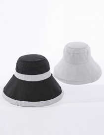 Fashion Black + Grey Color-block Double-sided Fisherman Hat