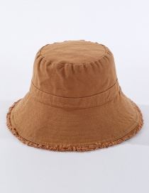 Fashion Caramel Frayed Denim Fisherman Hat