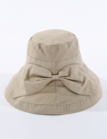 Fashion Khaki Fisherman Hat With Big Eaves Running Bow
