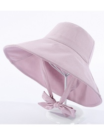 Fashion Pink Fisherman Hat With Big Eaves Band And Bow