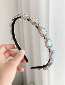 Fashion Ab Color Alloy Ab Color Round Headband