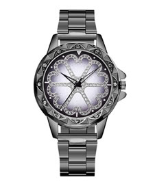 Fashion Gun Black Watch With Diamonds And Diamonds