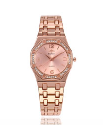 Fashion Rose Gold Steel Bracelet Diamond Bracelet Watch