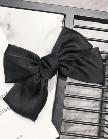 Fashion Black Big Bow Solid Color Hair Clip