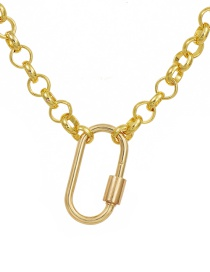 Fashion Golden Copper Round Chain Necklace