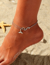 Fashion Silver Surf Fishtail Alloy Anklet Set