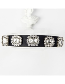Fashion White Copper Claw Studded Wide Flower Hoop With Diamonds