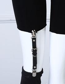 Fashion Black Double-headed Duckbill Leather Fun Shape Sock Leg Ring