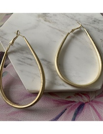 Fashion Golden Alloy Plated Drop-shaped Hollow Stud Earrings