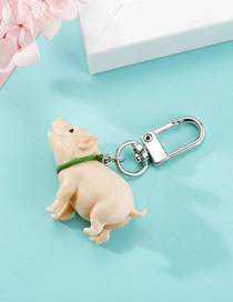 Fashion Cream Piglet Resin Three-dimensional Keychain Pendant