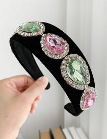 Fashion Color Fabric Rhinestone Headband