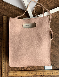 Fashion Pink Pu Pink One Shoulder Slung Hand Bag
