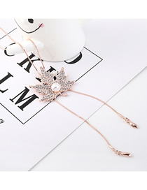 Fashion Gold Pearl Flower Necklace