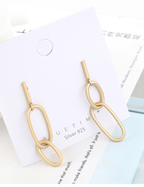 Fashion Gold Gold Plated Double Circle Cutout S925 Silver Needle Earrings