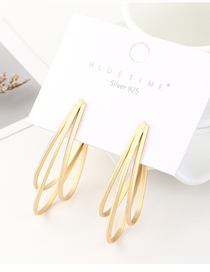 Fashion Gold Plated Gold Banana S925 Silver Needle Earrings (matte Gold)