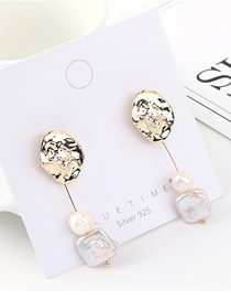Fashion Gold Plated Gold Small Lotus Leaf Fringed S925 Silver Needle Earrings